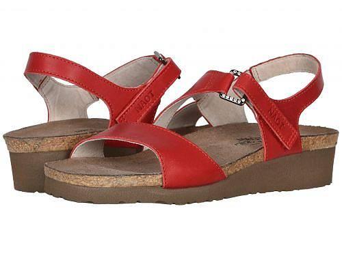 ナオト Naot レディース 女性用 シューズ 靴 サンダル Pamela - Kiss Red Leather