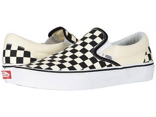 送料無料 バンズ Vans シューズ 靴 スニーカー 運動靴 Classic Slip-On(TM) Core Classics - Black and White Checker/White (Canvas)