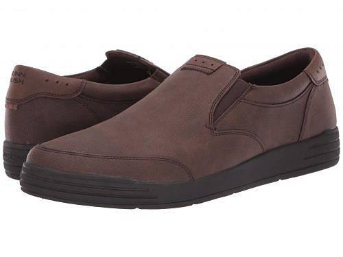 ナンブッシュ Nunn Bush メンズ 男性用 シューズ 靴 スニーカー 運動靴 Kore City Walk Moc Toe Slip-On - Dark Brown