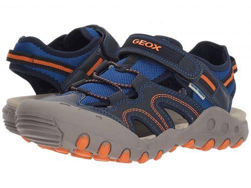 送料無料 Geox Kids ジオックス 男の子用 キッズシューズ 子供靴 サンダル Geox Kids ジオックス Kyle 12 (Big Kid) - Navy/Orange