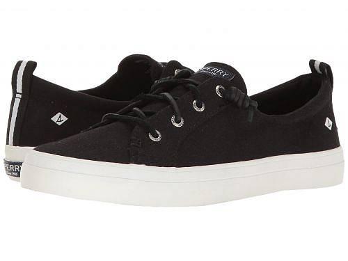 送料無料 スペリー Sperry レディース 女性用 シューズ 靴 スニーカー 運動靴 Crest Vibe Washed Linen - Black