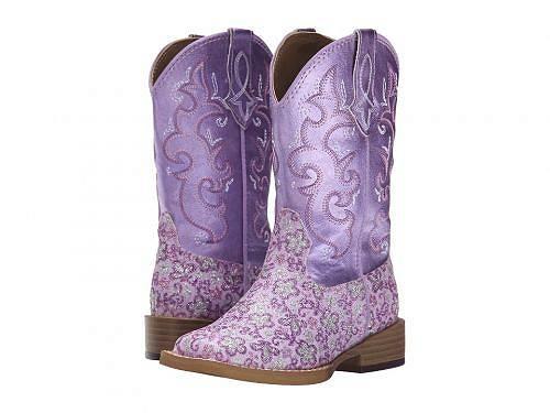 送料無料 ローパー Roper Kids 女の子用 キッズシューズ 子供靴 ブーツ ウエスタンブーツ Lavender Square Toe Boot (Toddler/Little Kid) - Purple