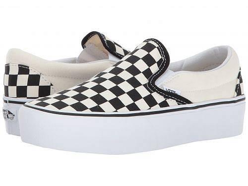 送料無料 Vans バンズ レディース 女性用 シューズ 靴 スニーカー 運動靴 Vans バンズ Classic Slip-On Platform - Black and White Checker/White