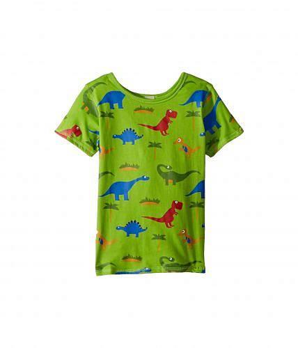 送料無料 フォーワードクロージング 4Ward Clothing キッズ 子供用 ファッション 子供服 Tシャツ PBS KIDS(R) - Dino Pattern Reversible Tee (Toddler/Little Kids) - Greenery