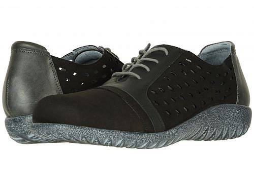 送料無料 ナオト Naot レディース 女性用 シューズ 靴 スニーカー 運動靴 Lalo - Black Velvet Nubuck/Jet Black Leather Combo