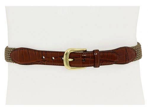 ブライトン Brighton メンズ 男性用 ファッション雑貨 小物 ベルト Elastic Cord Croco Tab Taper Belt - Khaki