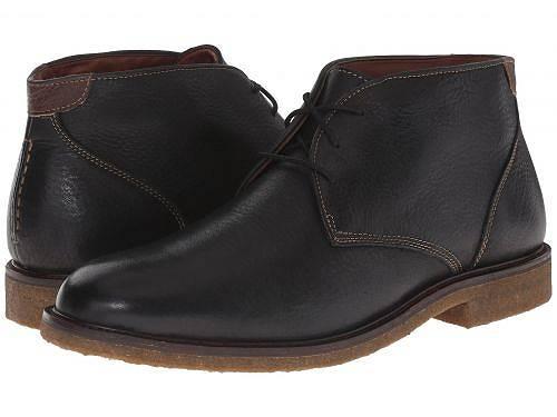 送料無料 ジョーンストンアンドマーフィー Johnston & Murphy メンズ 男性用 シューズ 靴 ブーツ チャッカブーツ Copeland Casual Chukka Boot - Black Tumbled Full Grain
