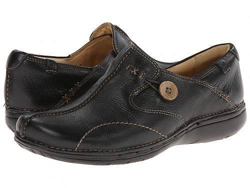 送料無料 クラークス Clarks レディース 女性用 シューズ 靴 ローファー ボートシューズ Un.loop - Black Leather