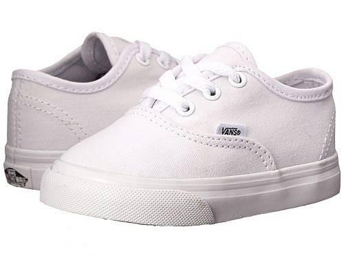 送料無料 バンズ Vans Kids キッズ 子供用 キッズシューズ 子供靴 スニーカー 運動靴 Authentic Core (Toddler) - True White