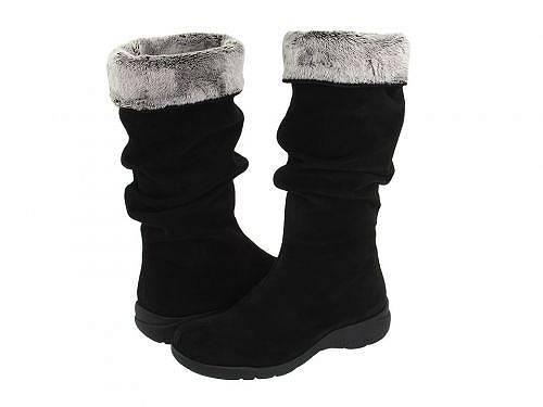 送料無料 ラカナディアン La Canadienne レディース 女性用 シューズ 靴 ブーツ ミッドカフ Trevis - Black Suede