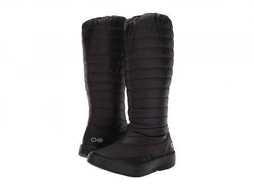 送料無料 オーフォス Oofos レディース 女性用 シューズ 靴 ブーツ ロングブーツ Oomg Boot - Black