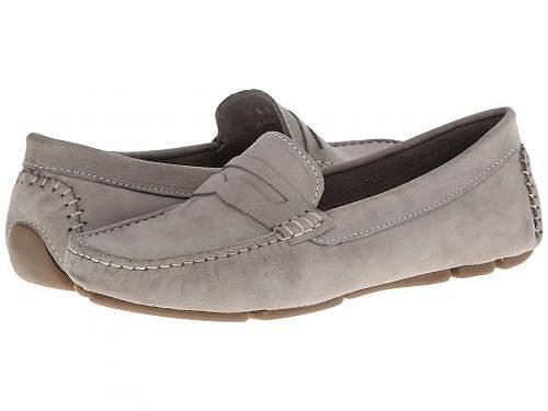 送料無料 マッシオマッテオ Massimo Matteo レディース 女性用 シューズ 靴 ローファー ボートシューズ Penny Keeper - Grey Nubuck