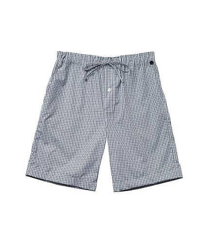 送料無料 ハンロ Hanro メンズ 男性用 ファッション 子供服 パジャマ 寝巻き 下着 Night & Day Short Woven Pants - Basic Shaded Check