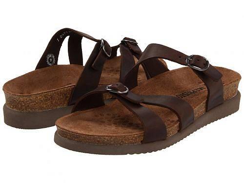送料無料 メフィスト Mephisto レディース 女性用 シューズ 靴 サンダル Hannel - Dark Brown Scratch Leather
