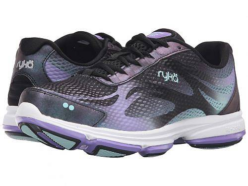 送料無料 ライカ Ryka レディース 女性用 シューズ 靴 スニーカー 運動靴 Devotion Plus 2 - Black/Purple Ice/Eggshell Blue