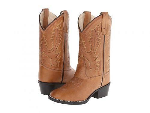 送料無料 Old West Kids Boots オールドウエスト ブーツ ウエスタンブーツ キッズ 子供用 キッズシューズ 子供靴 Round Toe Western Boot (Toddler/Little Kid) - Tan Canyon