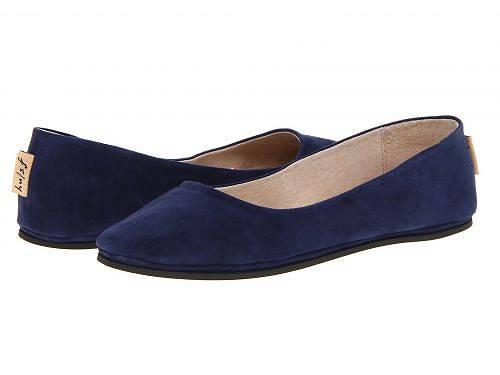 送料無料 フレンチソール French Sole レディース 女性用 シューズ 靴 フラット Sloop Flat - Navy Suede