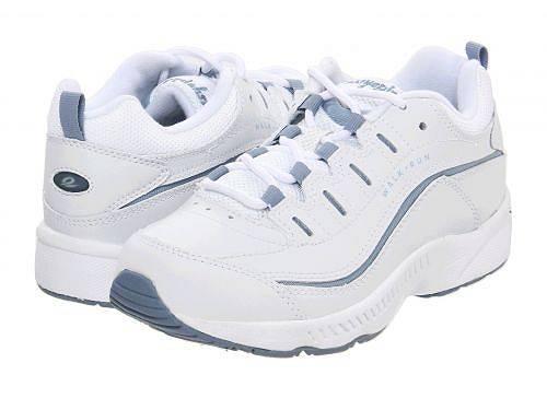 送料無料 イージースピリット Easy Spirit レディース 女性用 シューズ 靴 スニーカー 運動靴 Romy - White/Medium Blue Leather
