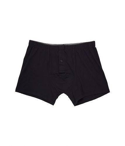 送料無料 ハンロ Hanro メンズ 男性用 ファッション 下着 Cotton Superior Longleg Boxer Brief - Black