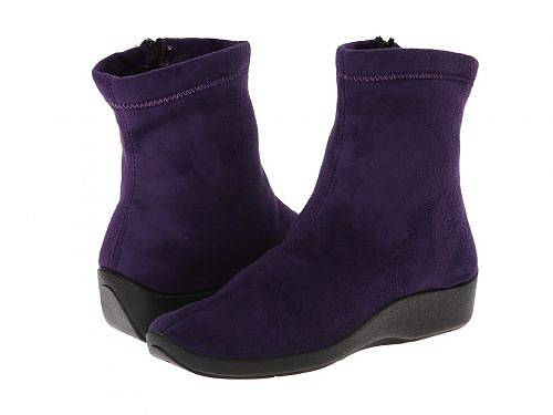 送料無料 アルコペディコ Arcopedico レディース 女性用 シューズ 靴 ブーツ アンクルブーツ ショート L8 - Violet Suede