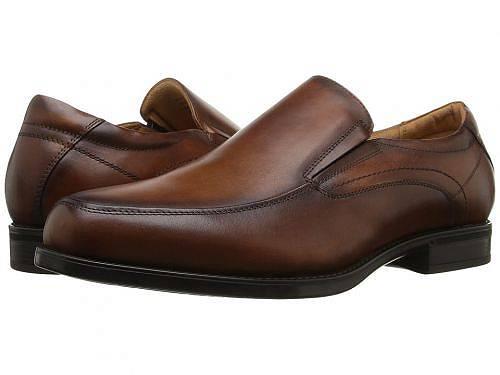 送料無料 フローシャイム Florsheim メンズ 男性用 シューズ 靴 ローファー Midtown Moc Toe Slip-On - Cognac Smooth