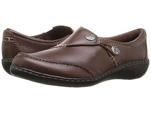 送料無料 クラークス Clarks レディース 女性用 シューズ 靴 ローファー ボートシューズ Ashland Lane Q - Redwood