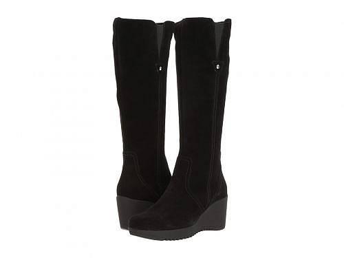 送料無料 ラカナディアン La Canadienne レディース 女性用 シューズ 靴 ブーツ ロングブーツ Grace - Black Suede