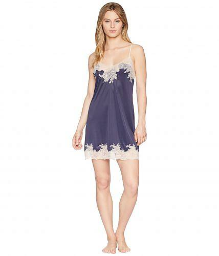 送料無料 ネイトリ Natori レディース 女性用 ファッション パジャマ 寝巻き ナイトガウン Enchant Lace Trim Chemise - Night Blue/Rose