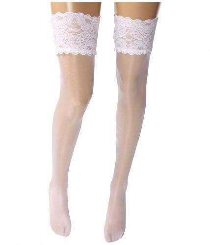 送料無料 ウォルフォード Wolford レディース 女性用 ファッション 下着 ストッキング Satin Touch 20 Stay-Up Thigh Highs - White