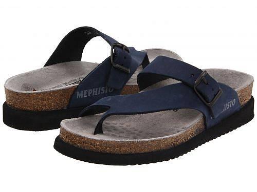 送料無料 メフィスト Mephisto レディース 女性用 シューズ 靴 サンダル Helen - Navy Nubuck