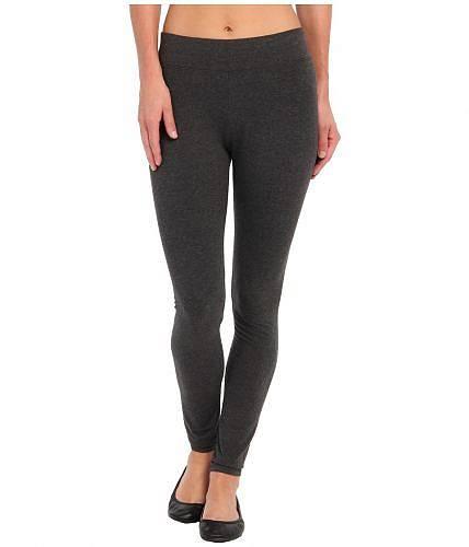送料無料 ヒュー HUE レディース 女性用 ファッション パンツ ズボン Ultra Leggings w/ Wide Waistband - Graphite Heather