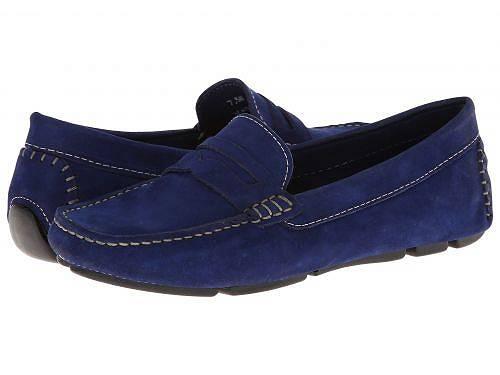 送料無料 マッシオマッテオ Massimo Matteo レディース 女性用 シューズ 靴 ローファー ボートシューズ Penny Keeper - Blue Nubuck