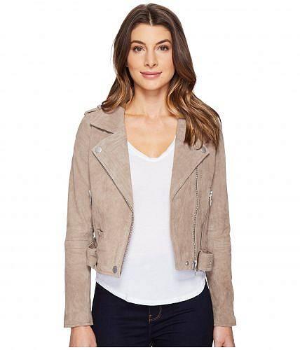 ブランクエヌワイシー Blank NYC レディース 女性用 ファッション アウター ジャケット コート ライダージャケット Suede Moto Jacket - Sand Stoner