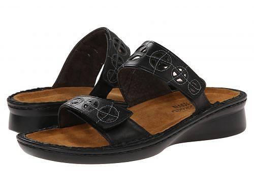 送料無料 ナオト Naot レディース 女性用 シューズ 靴 サンダル Cornet - Black Raven Leather/Glass Silver