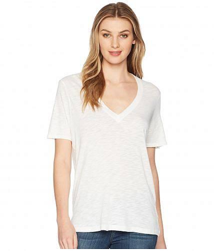 送料無料 スプレンデッド Splendid レディース 女性用 ファッション Tシャツ Everly Short Sleeve Cotton Modal Slub V-Neck Tee - White