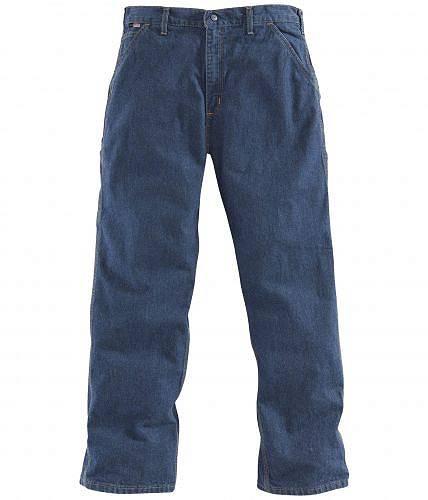 カーハート Carhartt メンズ 男性用 ファッション ジーンズ デニム Big & Tall Flame-Resistant Signature Denim Dungarees - Denim