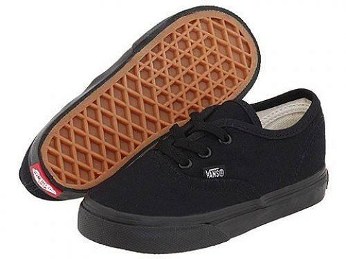 送料無料 バンズ Vans Kids キッズ 子供用 キッズシューズ 子供靴 スニーカー 運動靴 Authentic Core (Toddler) - Black/Black