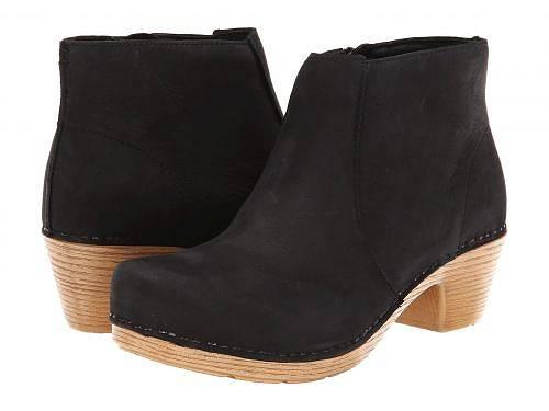 ダンスコ Dansko レディース 女性用 シューズ 靴 ブーツ アンクルブーツ ショート Maria - Black Milled Nubuck