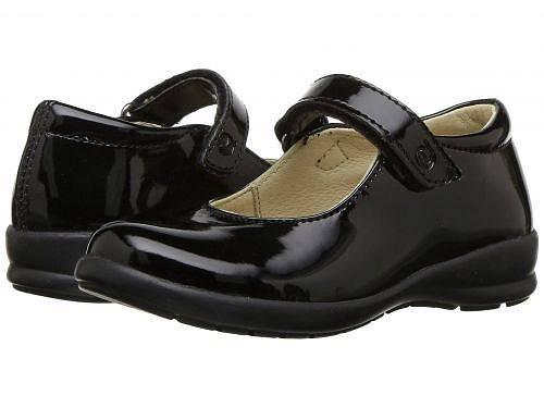送料無料 ナチュリーノ Naturino 女の子用 キッズシューズ 子供靴 フラット Catania (Toddler/Little Kid/Big Kid) - Black Patent
