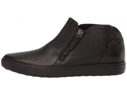ECCO ECCO 靴 Soft 7 Low Cut Zip Bootie - Black Cow Leather シューズ スニーカー エコー 運動靴 レディース エコー 女性用 送料無料