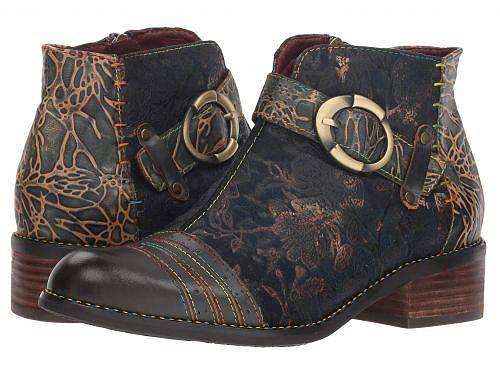 送料無料 ラーティスト L'Artiste by Spring Step レディース 女性用 シューズ 靴 ブーツ アンクルブーツ ショート Georgiana - Blue Multi