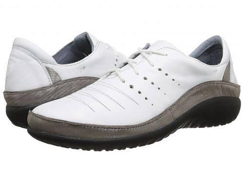 送料無料 ナオト Naot レディース 女性用 シューズ 靴 オックスフォード 紳士靴 通勤靴 Kumara - White Leather/Silver Threads Leather