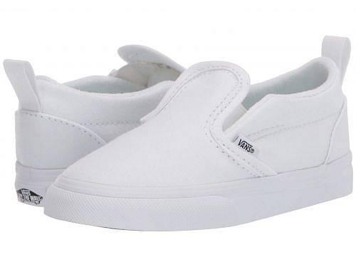 バンズ Vans Kids キッズ 子供用 キッズシューズ 子供靴 スニーカー 運動靴 Slip-On V (Infant/Toddler) - True White/True White