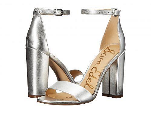 送料無料 サムエデルマン Sam Edelman レディース 女性用 シューズ 靴 ヒール Yaro Ankle Strap Sandal Heel - Silver