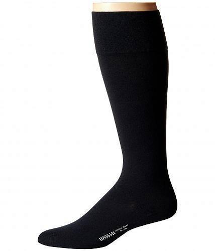 ウォルフォード Wolford メンズ 男性用 ファッション ソックス 靴下 スリッパ Cotton Velvet Knee-Highs - Black