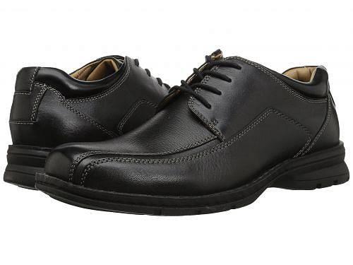 送料無料 ドッカーズ Dockers メンズ 男性用 シューズ 靴 オックスフォード 紳士靴 通勤靴 Trustee Moc Toe Oxford - Black Tumbled Leather