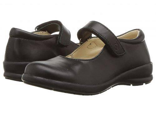 送料無料 ナチュリーノ Naturino 女の子用 キッズシューズ 子供靴 フラット Catania (Toddler/Little Kid/Big Kid) - Black Leather