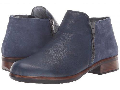 送料無料 ナオト Naot レディース 女性用 シューズ 靴 ブーツ アンクルブーツ ショート Helm - Ink Leather/Midnight Blue Suede