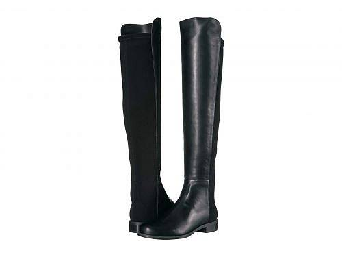 送料無料 スチュアートワイツマン Stuart Weitzman レディース 女性用 シューズ 靴 ブーツ ロングブーツ The 5050 Boot - Black Nappa/Stretch Gabardine