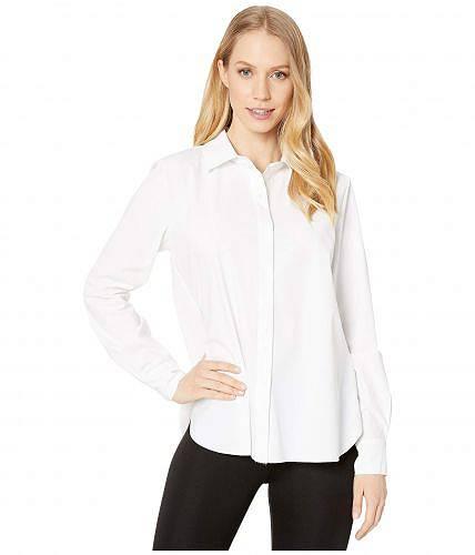 送料無料 リセ Lysse レディース 女性用 ファッション ボタンシャツ Connie Slim Fit Stretch Microfiber Button-Down Shirt - White